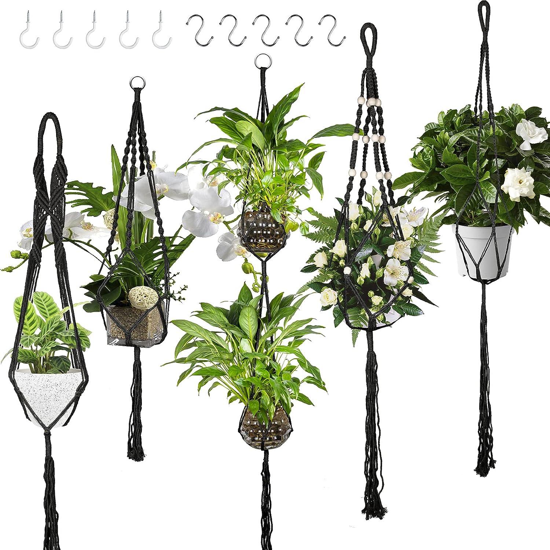 5 Pack Macrame Plant Ranking TOP17 Hangers Handmad Planters Hanging unisex Indoor Set