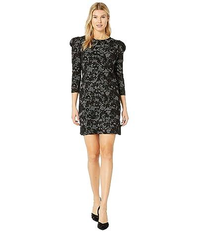 MICHAEL Michael Kors Glam Lace Puff Sleeve Dress (Bone/Black) Women