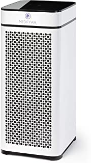 Medify MA-40W V2.0 Medical Grade Filtration H13 True HEPA for 840 Sq. Ft. Air Purifier, 99.9% | Modern Design - White