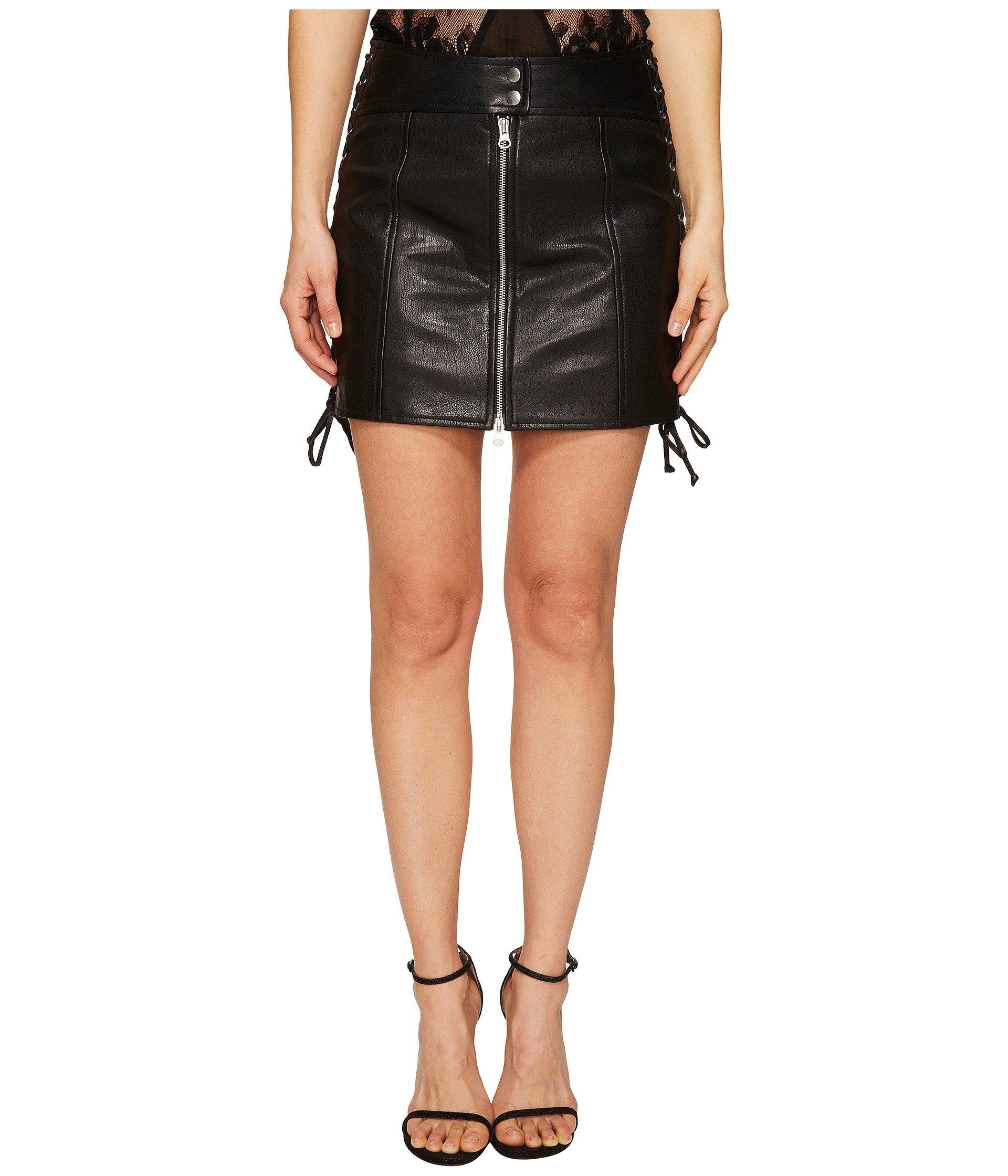 Eyelet Biker Skirt