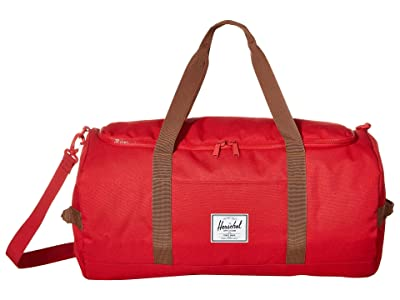 Herschel Supply Co. Sutton (Red/Saddle Brown) Duffel Bags