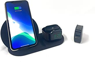 JxyyEnterprises 3 in 1 Wireless Charging Station | Fast Charging Station Dock for Qi Fast Wireless Charger Compatible iPhone11/Pro/X/XS/XR/Xs Max/8/8 Plus | Apple Watch Series 5/4/3/2/1 | AirPods/Pro