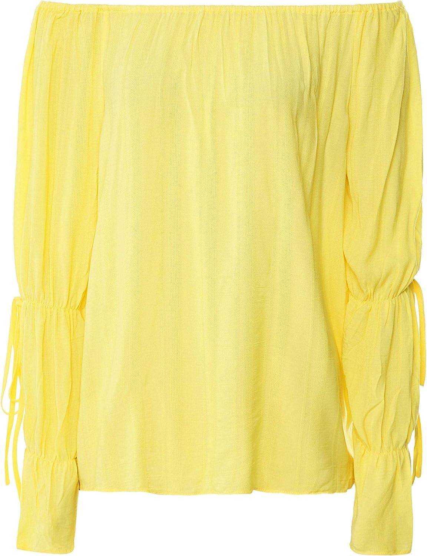Charli Women's Sistine Tie Sleeve Bardot Yellow