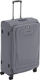 Amazon Basics Premium Valise souple et extensible à roulettes pivotantes avec serrure TSA intégrée 74cm, Gris