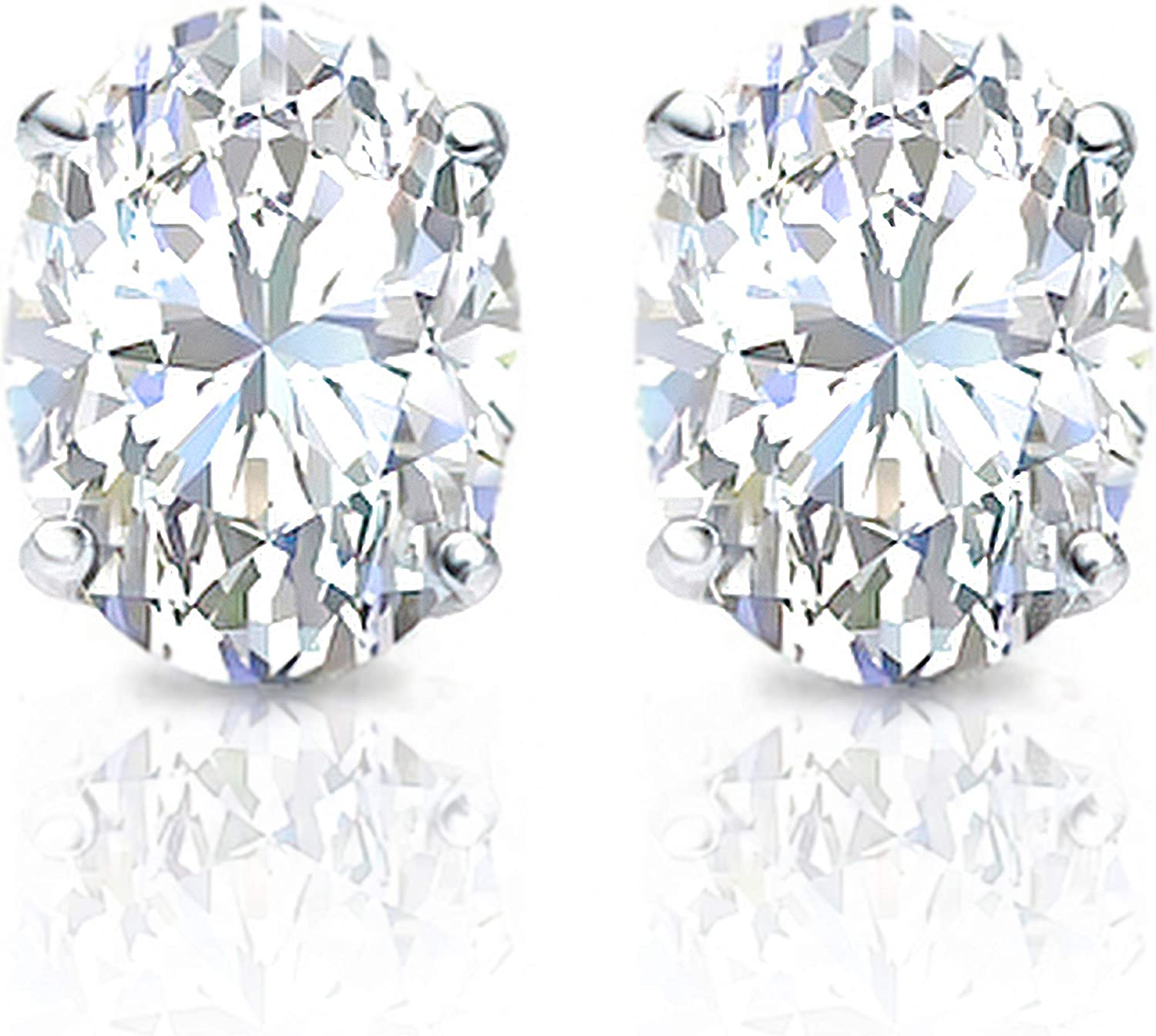 0.33-0.50 Mail order cts Oval Shape Lab-Grown New product! New type Studs 14K Diamond in Earring