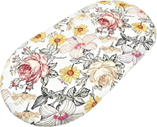 Eco Baby Planet Bassinet Fitted Sheet / Change Pad Cover - Trendy Nursery Bedding - Boho Floral - Fits All Mattress Shapes...