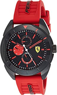Ferrari Unisex-Adult Quartz Watch, Analog Display and Silicone Strap 830576