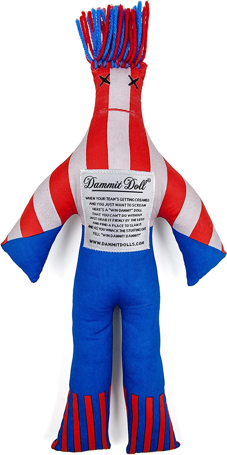 Dammit Doll  Win Dammit Doll  The Allstar  Navy & Red  Stress Relief  Gag Gift  Sports Teams