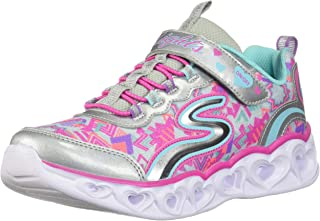 Skechers Unisex-Child Girls Heart Lights