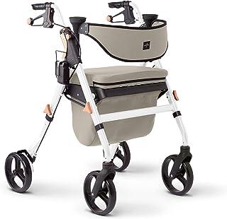 Sponsored Ad - Medline Premium Empower Rollator Walker with Seat, Comfort Handles and Thick Backrest, Folding Walker for S...