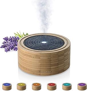 Medisana AD 625 Diffuseur d'arômes en bambou, nébuliseur en bois avec lumière de bien-être en 6 couleurs, pour huiles esse...