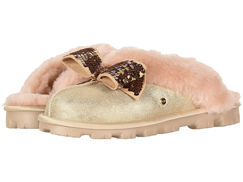 UGG Coquette Sequin Bow Slipper (Gold) Women