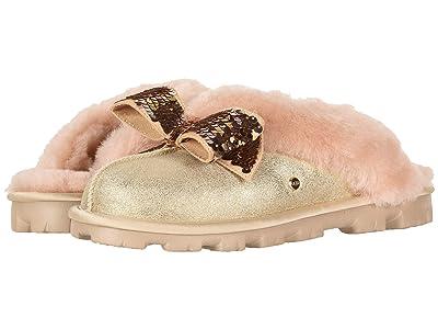 UGG Coquette Sequin Bow Slipper (Gold) Women