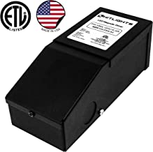 HitLights 60 Watt Dimmable Driver, Magnetic, for LED Light Strips - 110V AC-12V DC Transformer. Made in the USA. Compatible with Lutron and Leviton