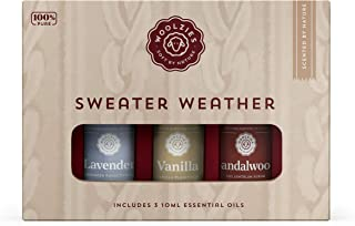 Woolzies 100% Pure & Natural Sweater Weather Essential Oil Set of 3 | Lavender, Vanilla, Sandalwood Oils