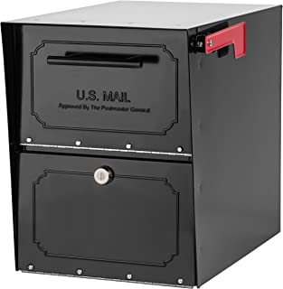 Architectural Mailboxes 6200B-10 Oasis Classic Locking Post Mount Parcel Mailbox with High Security Reinforced Lock (Renewed)