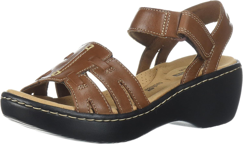 CLARKS Woherren Delana Nila Platform, Platform, Dark Tan Leather, 9 Medium US  jetzt bestellen