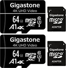 Gigastone 64GB 2-Pack Micro SD Card, 4K UHD Video,...