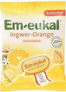 Em-eukal Ingwer-Orange zuckerfrei, 5er Pack (5 x 75 g)