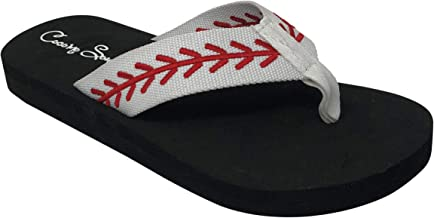 3 sizes sandals Unisex Flip-Flops Original hand painted baseball flip flops