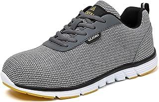 UCAYALI Zapatos de Seguridad Hombre Unisex Zapatillas de Trabajo con Puntera de Acero Calzado Antideslizante Transpirables...