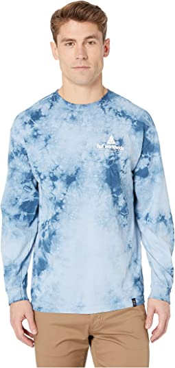 Peak Logo Crystal Wash Long Sleeve Tee