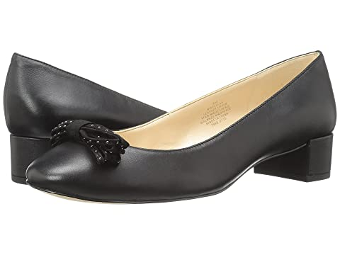 Nine West Elleah Black Leather  lKhZI8Co