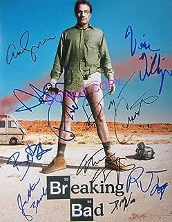 Breaking Bad cast 11x14 reprint signed poster RP Cranston Paul +9