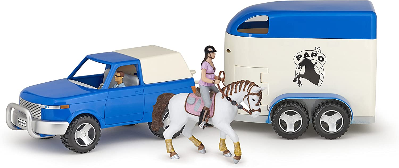 autentico en linea 4WD Y CAJA DE CABALLO CON 2 2 2 FIGURITAS  promocionales de incentivo