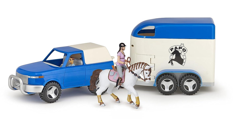 なめらか海上承認EKKIA(エキア) 乗馬用具 4X4 & HORSE VAN + 2 FIGURES 905080311 905080311