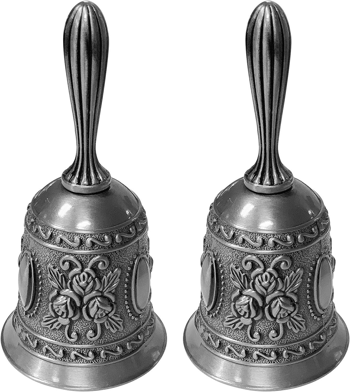 Portland Mall Adorox Set of 2 Antique Hand Brass Wedding Max 42% OFF Bells Bell Call