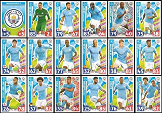 Match Attax Champions League 2017/18 Manchester City Full 18 Card Set 17/18