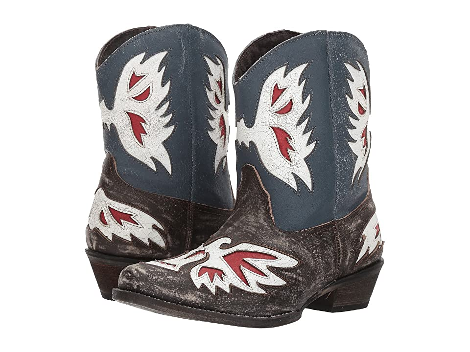 Roper Pride (Distressed Red/White/Blue) Cowboy Boots