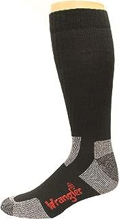 Wrangler Steel Toe Boot Sock 2 Pack, Black, W 10-12/M 8.5-10.5