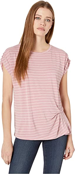 Iva Short Sleeve Pleated Side Tee