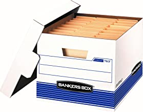 Bankers Box STOR/File Medium-Duty Storage Boxes, FastFold, Lift-Off Lid, Letter/Legal, Value Pack of 20 (0076315)