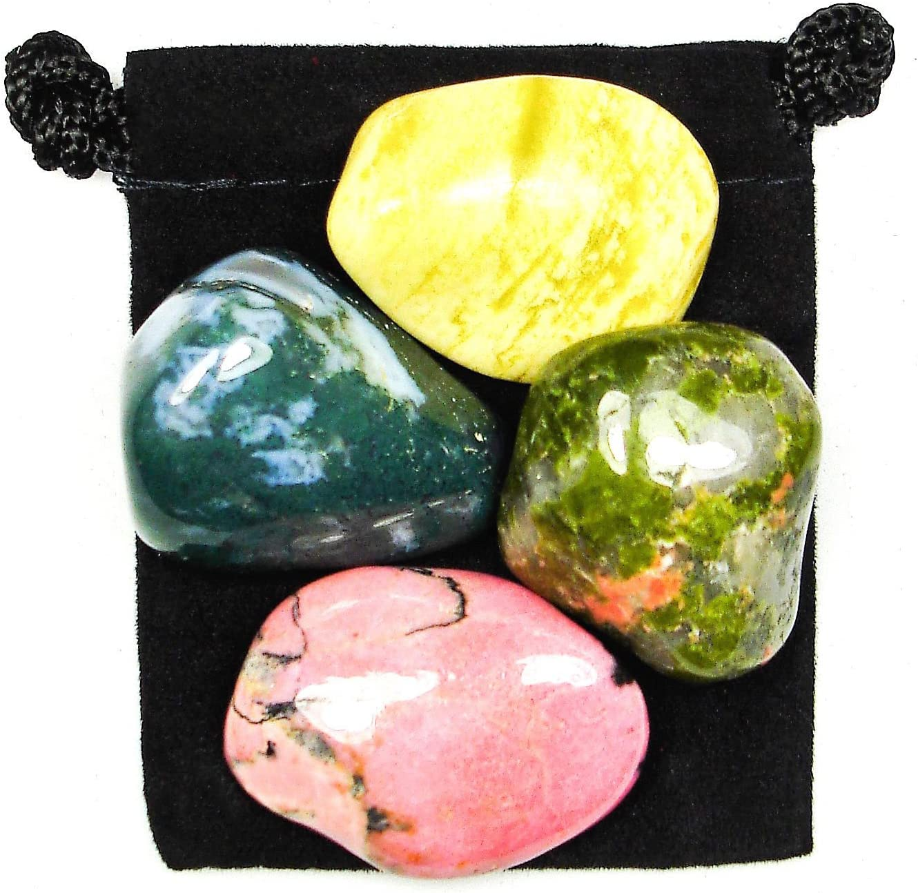 Emotional Balance Tumbled Crystal Healing Pouch Ranking TOP19 Descr Set with Recommendation