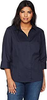 Riders by Lee Indigo Women's Plus Size Easy Care ¾ Sleeve...
