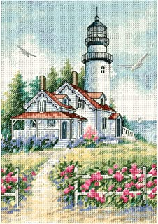 Dimensions Gold Petite Scenic Lighthouse Counted Cross Stitch Kit-5