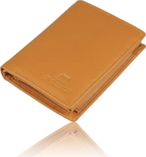 SHDESIGN Men's Tan Genuine Leather Wallet