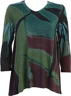 Jess /& Jane Womens Riddle Slinky Knit Side Slit Tunic Top