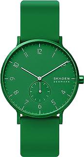 Aaren Colored Silicone Quartz Minimalistic 41mm Watch