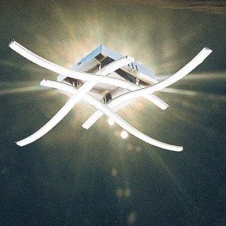 COFEMY Plafonnier Led, Plafonnier à 4 fourchettes, Lumière blanche neutre de 28 W 6000 K, Plafonnier moderne pour salon, c...