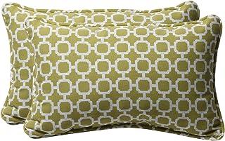 Pillow Almohadas Decorativas rectangulares Verdes y Blancas, 2 Unidades