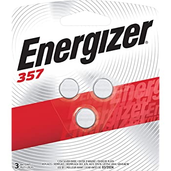 Energizer LR44 Battery, Silver Oxide 303, 357, AG13, or SR44 1.5 Volt Batteries (3 Battery Count)