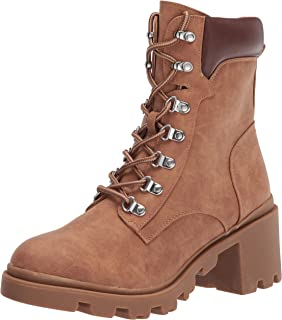 Report Women's lace up, Combat, Bootie Ankle Boot, TAN, 8.5