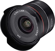 ROKINON AF 18mm F2.8 Wide Angle auto Focus Full Frame Lens for Sony E Mount, Black photo