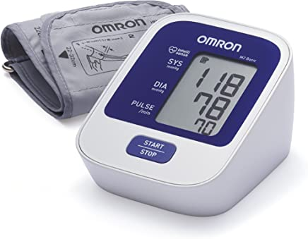 OMRON M2 Basic HEM-7120-E - Tensiómetro de brazo digital, tecnología Intellisense para dar lecturas de presión arterial rápidas, cómodas y precisas
