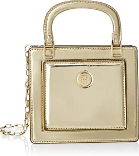 Tommy Hilfiger Fashion Crossover Metallic Bag, Black, AW0AW08219