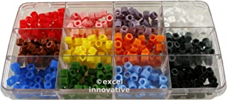 Kit of Silicone Color Bands for Instruments Identification 12 Assorted Colors in a Case 120pcs | Medixplus